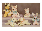 Stuffed Rabbit and Lamb Toys Print