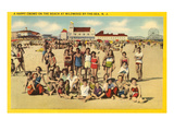 Beachgoers at Wildwood-by-the-Sea, New Jersey Prints