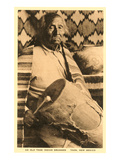 Old Taos Indian Drummer, New Mexico Prints
