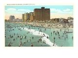 Beach Scene, Atlantic City, New Jersey Kunstdrucke