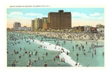 Beach Scene, Atlantic City, New Jersey Prints