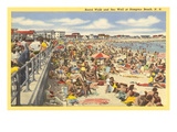 Boardwalk, Hampton Beach, New Hampshire Print