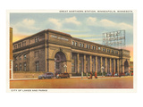 Great Northern Station, Minneapolis, Minnesota Prints