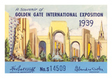 Souvenir of International Exposition, San Francisco, California Print