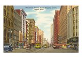 Woodward Avenue, Detroit, Michigan Print