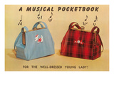 Musical Purses, Retro Print
