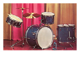 Drum Set, Retro Prints