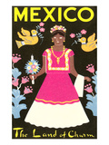 Mexico, The Land of Charm, Lady in Native Dress Prints