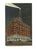 Hotel Carolina by Night, Raleigh, North Carolina Print