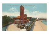 Train Station, Missoula, Montana Prints
