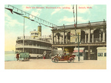 Belle Isle Steamer, Detroit, Michigan Posters