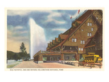 Old Faithful Inn, Yellowstone Park, Montana Poster