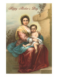 Happy Mother's Day, Murillo Madonna and Child Posters