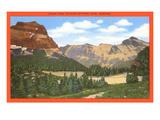 Logan Pass, parco di Glacier, Montana Poster