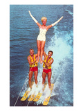 Acrobatic Water Skiing, Retro Posters