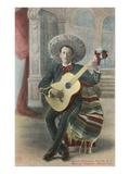 Charro Playing Guitar, Mexico Print