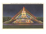 Illuminated Fountain, Belle Isle, Detroit, Michigan Posters