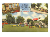 Pony Express Motel, St. Joseph, Missouri Art