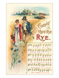 Comin' Thro' the Rye Sheet Music Prints