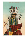 Yellow Horse, Ponca Indian Premium Giclee Print