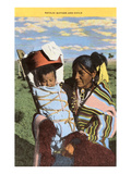 Navajo Mother with Papoose Poster