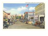 Aurora Street, Ironwood, Michigan Print