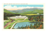 Saco Lake, Mt. Washington Hotel, New Hampshire Prints