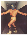 Mexican Wrestler in Gold Boots Plakát