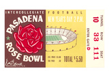 Rose Bowl Ticket Poster
