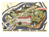 Chippewa Hotel, Mackinac Island, Michigan Print