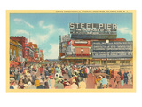 Boardwalk, Steel Pier, Atlantic City, New Jersey Prints