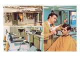 Men's Hair Styling Salon Prints