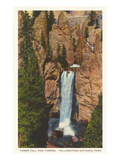 Tower Fall, Yellowstone Park, Montana Poster