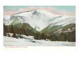 Winter, Mt. Washington, White Mountains, New Hampshire Giclée-Premiumdruck