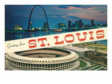 Greetings from St. Louis, Stadium, Arch Prints