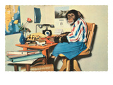 Typing Chimpanzee Art