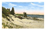 Beach and Dunes, Manistee, Michigan Premium Giclee Print