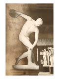 The Discus Thrower Statue Poster