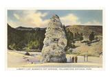 Liberty Cap, Yellowstone Park, Montana Posters