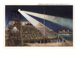 Acrobats on Pier, Atlantic City, New Jersey Print