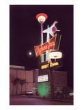 Skyline Inn, Motel Sign, Retro Prints