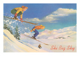 Ski Big Sky, Lady Skiers, Montana Prints
