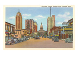Michigan Avenue, Lansing, Michigan Poster
