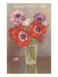 Happy Mothers Day, Glass with Poppies Prints