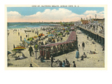 Beach and Boardwalk, Ocean City, New Jersey Poster