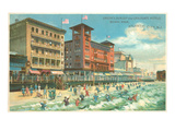 Hotels on Boardwalk, Atlantic City, New Jersey Poster