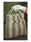 Gloved Hand Holding Net Purse, Retro Posters