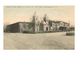 San Felipe Church, Albuquerque, New Mexico Print
