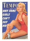 Men's Pulp Magazine Cover Poster
