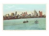 Skyline, Detroit, Michigan Kunstdrucke